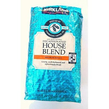 5 Pack Wholesale Lot Kirkland Signature Decaffeinated House Blend Coffee Roasted by Starbucks Coffee Co 32oz