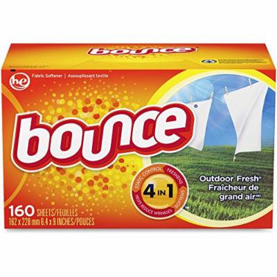 Bounce 80168 Bounce Dryer Sheets, 160/BX, Outdoor Fresh
