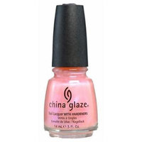 CHINA GLAZE LIGHT PINK PEARL COLOR WITH METALLIC AFTERGLOW NAIL POLISH LACQUER WITH HARDENER by China Glaze