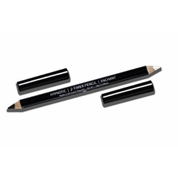 Long Lasting Duo Eye Liner and Highlighter Pencil - Alexis Vogel 2 Timer Pencil: Hypnotic-Enchant - Black Eyeliner on One End and Pearl Highlighter Pencil on the Other - Brightens and Defines Eyes - Created by Celebrity Makeup Artist