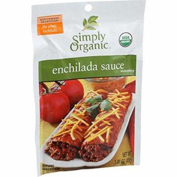 Simply Organic Enchilada Sauce - Organic - 1.41 oz - Case of 12 - 95%+ Organic - Yeast Free - Vegan