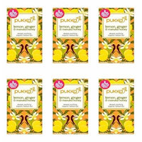 (6 PACK) - Pukka Lemon Ginger & Manuka Honey  20 Bags  6 PACK - SUPER SAVER - SAVE MONEY