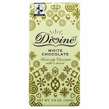 Divine Chocolate Bar - White Chocolate - 3.5 oz Bars - Case of 10 Kosher