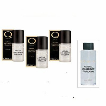 Qtica Natural Nail Growth Stimulator - .50 Oz Pack of 3 Bottles. Receive 2 Oz Bottle Refill for FREE