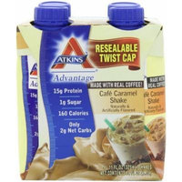 Atkins Ready To Drink Shake, Cafe Caramel, 11-Ounce Aseptic Containers (Pack of 8) by Atkins