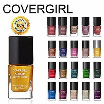 CoverGirl Outlast Stay Brilliant Nail Gloss Color Polish 5 Piece Random Set