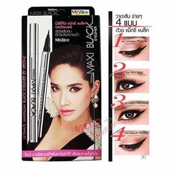 Mistine Maxi Black Waterproof Eyeliner Shadow Gel Makeup Cosmetic Mistine
