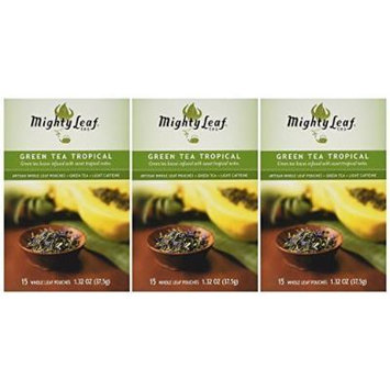 Mighty Leaf Tea Tropical Green Tea, 1.32 ounce (Pack of 6)
