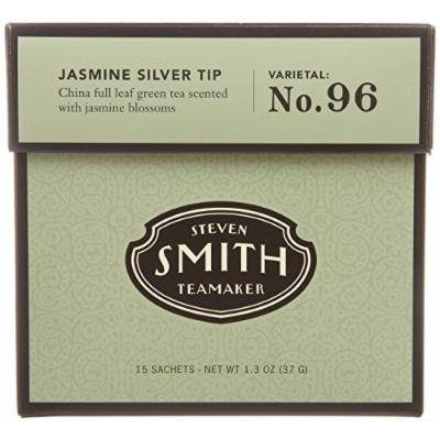 Smith Tea, Jasmine Silver Tip Green, 15-Count (Pack of 2)