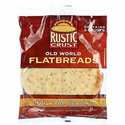 Rustic Crust Pizza Crust - Flatbreads - Italian Herb - 2 pack - 9 oz - case of 12 -