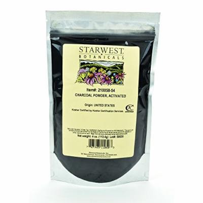 Starwest Botanicals FOOD GRADE US Hardwood Activated Charcoal Powder, 4 Ounces (Pack of 2)