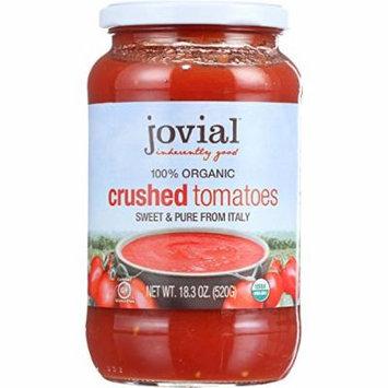 Jovial Tomatoes - Organic - Crushed - 18.3 oz - case of 6 - 100% Organic - Gluten Free - Dairy Free - Yeast Free - Wheat Free-Vegan