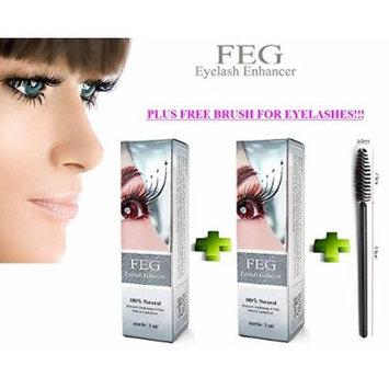 2 X FEG Eyelash Enhancer Growth Liquid/Serum. 100% Original with Anti-Fake sticker!!! + Eyelashs and eyebrow brush!!!