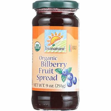 Bionaturae Fruit Spread - Organic - Bilberry - 9 oz - case of 12 - 95%+ Organic -