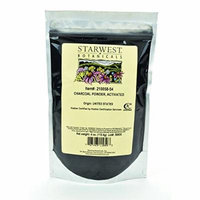 Starwest Botanicals FOOD GRADE US Hardwood Activated Charcoal Powder, 4 Ounces (Pack of 3)