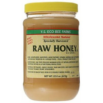 YS Eco Bee Farms - Raw Honey - 22 oz (Pack of 6)