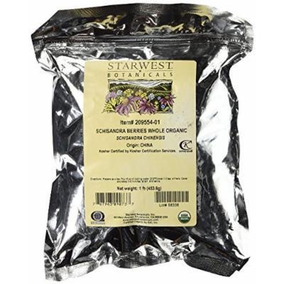 Starwest Botanicals Organic Schisandra Berry Whole (Pack of 2)