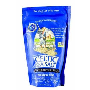 Light Grey Celtic coarse sea salt, 1 lb. bag (Pack of 4)