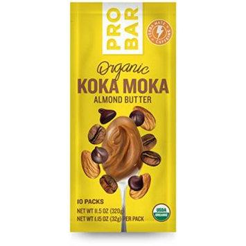PROBAR - Organic Plant-Based Almond Butter - Koka Moka + Yerba Mate Caffeine - USDA Organic, Gluten Free, Non-GMO Project Verified, 5g Protein - Pack of 10