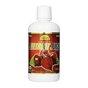 Dynamic Health Organic Certified Juice, Beetroot, 32 Fluid Ounce (Pack of 3)