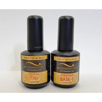 BIO SEAWEED GEL (Made in USA) - (No-wipe Topcoat and Stronger Base coat)