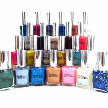 20 Pure Ice Nail Polish No repeat color's Great Fingernail Polish Lot By Bari