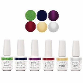 Gelish Mini 6 Bottle Soak Off Solid and Shimmer Gel Nail Polish Collection, 9 mL