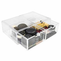Sorbus® Acrylic Cosmetics Makeup and Jewelry Storage Case X-Large Display Sets –Interlocking Scoop Drawers to Create Your Own Specially Designed Makeup Counter –Stackable and Interchangeable