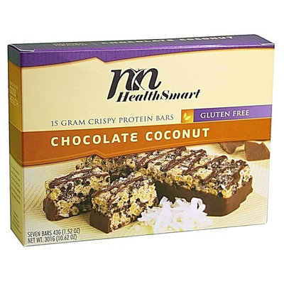 HealthSmart - High Protein Diet Bars - Crispy Chocolate Coconut - 15g Protein - Low Calorie - Low Fat - Gluten Free (7/Box)