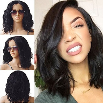 Brazilian Lace Front Hair Wigs For Black Women Body Wavy Wig With Natural Hairline Full End Short BOB wig