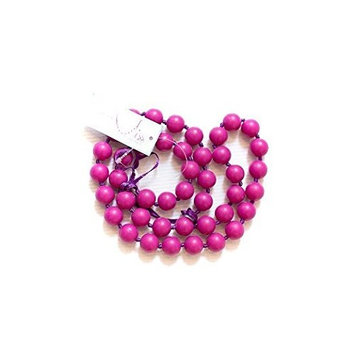 Little Teether Classy Teething Necklace for Baby Nursing - Stylish Silicone Necklace for Moms, Teether for Babies. Provides Teething Pain Relief. Food-Grade Safe! Teething Remedy Approved by Mothers! - Radiant Orchid