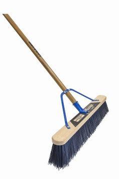 Quickie Brooms & Mops Job Site 24 in. Super-Stiff Poly Push Broom (2-Pack) 00869HDSU-2