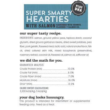 I and Love and You Super Smarty Hearties with Salmon Dog Treats, 5 Oz