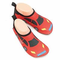 Vine Kids Water Skin Shoes for Beach Surf Swimming Breathable Anti-slip Aqua [Light blue whale, XL (US14, EU32) = feet length 19.1cm]