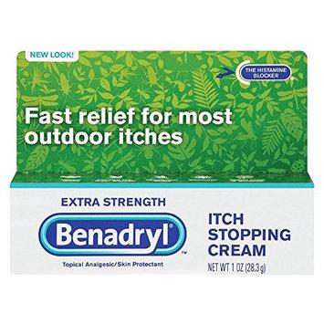 Extra Strength Benadryl Itch Stopping Cream, 1oz. Per Box (12 Pack)