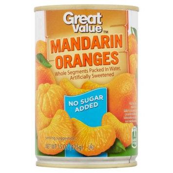 Great Value Mandarin Oranges In Water, No Sugar Added, 15 Oz