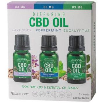 CBD Wellness Essential 3 Pack (0.99 Fluid Ounces Oil) by SpaRoom