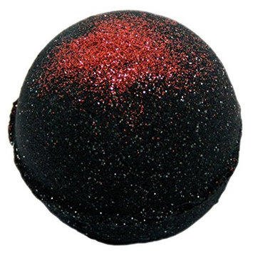 Bath Bomb 5.5 oz Deep Black Chasm with Red Shimmer
