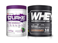 Cellucor Scivation Quake 10.0 Watermelon Bubblegum 20 Serving Pre-Workout with Cor-Performance Peanut Butter Marshmallow Whey Protein 14 Serving Post-Workout