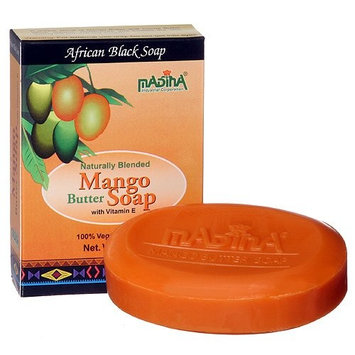 Mango Cocoa Butter Natural Soap Dry Skin Moisture Herbal Cleanser Madina 12 Bar