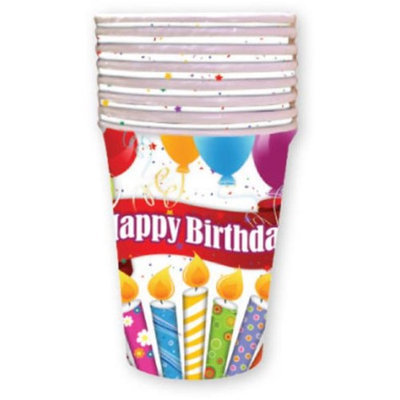DDI 1998110 Birthday Candles 9 oz Cup - 8 Count Case of 24