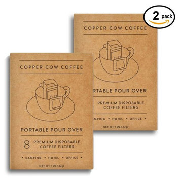 Copper Cow Coffee Premium Disposable Coffee Filters - 8 each | 2 pack