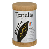 Teatulia Organic Energy Tea Black 30 Tea Bags