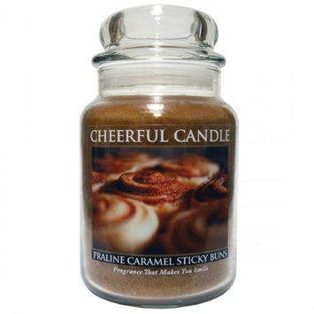 A Cheerful Candle JC41 15Oz. Praline Caramel Sticky Buns Signature Colonial Jar