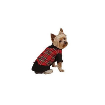 Pet Edge Dealer Services East Side Coll Holiday Tartan Dog Vest Xsmall