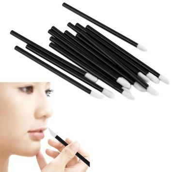 Jujunx 100PCS Disposable MakeUp Lip Brush Lipstick Gloss Wands Applicator Make Up (Black)