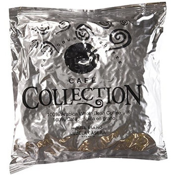Café Collections House Blend Coffee, Whole Bean, 2 lb. pack, Pack of 4
