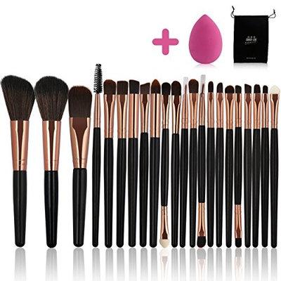 Makeup Brush Set 22PCs Makeup Brushes Premium Synthetic Kabuki Foundation Brushes Cosmetics Brushes Kit With Makeup Sponge Carrying Makeup Brush Bag