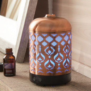 Better Homes & Gardens Antique Copper Tabriz 100 mL Cool Mist Ultrasonic Aroma Diffuser
