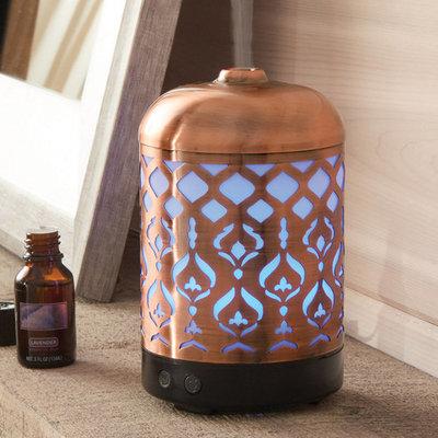 Better Homes & Gardens Antique Copper Tabriz 100 mL Cool Mist Ultrasonic Aroma Diffuser